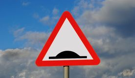 Road sign. Speed humps road sign northern ireland stock image
