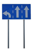Road sign. Traffic direction - isolated royalty free stock photos