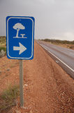 Road sign. Rest area in Australia Royalty Free Stock Photo