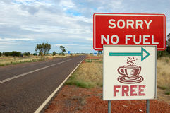Road sign. On Barkly Highway in Australia Stock Photo