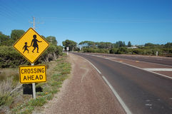 Road sign. At the town, South Australia Royalty Free Stock Photo
