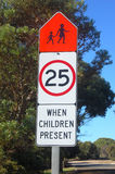 Road sign. At the town, South Australia Stock Photo