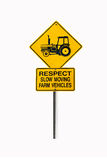 Road Sign. Warning sign on country road royalty free stock photography