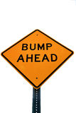 Road sign. Bump ahead isolatedon white Stock Photos
