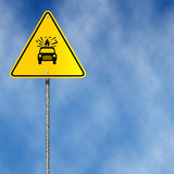 Road Sign. A Transportation Of Explosives And Flammable Substances Is Forbidden - Road Sign Royalty Free Stock Photography