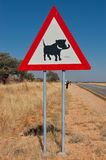 Road sign in Africa Stock Image