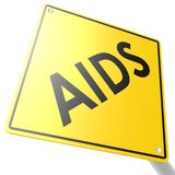 Road sign with AIDS Stock Images