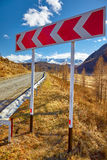 Road sign on Altai mountain federal route M52 Royalty Free Stock Photos