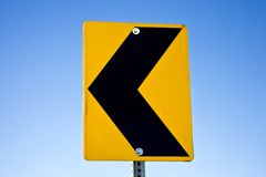 Road sign arrow left (AB) Royalty Free Stock Image