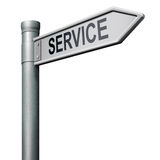 Road sign arrow to service. Service get online help and support stock illustration