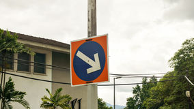 Road sign  arrow Royalty Free Stock Image