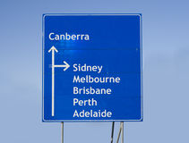 Road sign Australia Royalty Free Stock Photography
