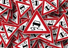 Road Sign, Auto, Street Sign Stock Photos