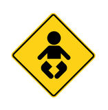 Road sign - baby Royalty Free Stock Image
