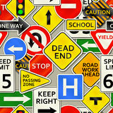 Road Sign Background Stock Image