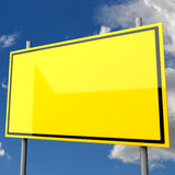 Road Sign Big Yellow Blank Royalty Free Stock Photography