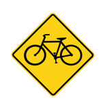 Road sign - Bike crossing Royalty Free Stock Image