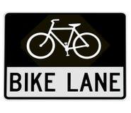 Road sign - bike lane Stock Photography