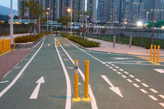 Road sign for bikes and cyclists outdoors at Tseung Kwan O Royalty Free Stock Photo