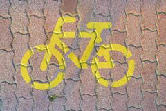 Road sign for bikes Stock Image