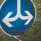 Road sign both directions. Left and right royalty free stock image