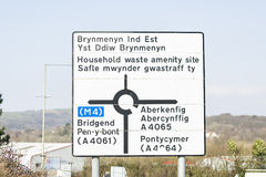 Welsh street sign Stock Image