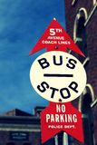 Road Sign,BUS STOP Royalty Free Stock Photos