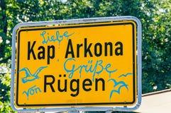 Road sign Cape Arkona Stock Photography