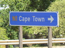 ROAD SIGN CAPE TOWN, SOUTH AFRICA Stock Photo
