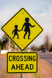 Road Sign, Children Crossing, Royalty Free Stock Photography