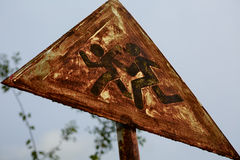 Road sign children Royalty Free Stock Images