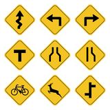 Road sign collection drawing by illustration vector illustration