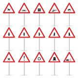Road sign color  art vector Royalty Free Stock Photo
