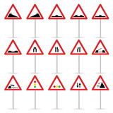 Road sign color vector illustration Royalty Free Stock Photos