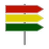 Road sign colors Royalty Free Stock Photography