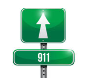 911 road sign concept illustration design Royalty Free Stock Images