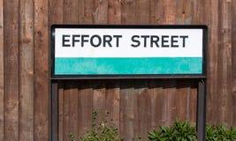 Road sign conceptual image Effort street: Maximum effort for max stock photo