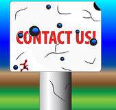 Road sign contact us Stock Photography