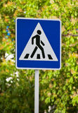 Road sign Crosswalk Stock Image