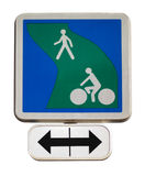 Road sign for cycle path Stock Images
