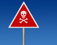 Road sign of danger mark Stock Photo