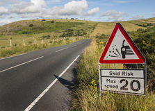 Road sign danger Stock Photography