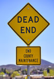 Road Sign Dead End County Maintenance Royalty Free Stock Photos
