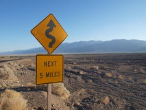 Road sign in Death Valley Royalty Free Stock Image