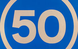 Road Sign 50 Royalty Free Stock Photography
