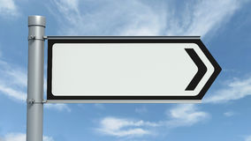 Road Sign - Empty. Road sign over a blue sky - Empty Stock Images