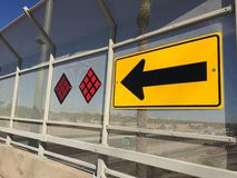 Road sign at the end of a road - right turn only one way. Royalty Free Stock Image