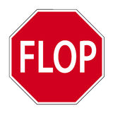 Road sign flop Stock Photos