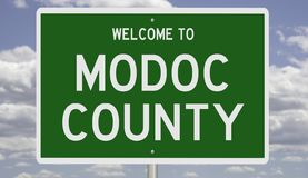 Free Road Sign For Modoc County Royalty Free Stock Photos - 167316468
