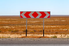 Road sign. Fork. Choice of a way. Royalty Free Stock Photography